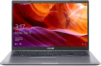"Ноутбук Asus Laptop D509DA-EJ393R 15.6"" 1920x1080 мат/Ryzen 3 3250U 2.6Ghz/8Gb/256SSD/noDVD/Int:Shared/Cam/BT/WiFi/w1y/1.9kg/SlateGray/W10Pro (90NB0P52-M19840)"