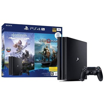 Игровая приставка Sony PlayStation 4 Pro 1Tb черная + Horizon Zero Dawn Complete Edition + God Of War