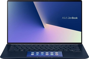 "Ноутбук Asus ZenBook UX434FL-A6019T 14"" 1920x1080 IPS FHD/Core i7 8565U/16Gb/SSD512/nVidia GF MX250 2Gb/W10 64/blue/WiFi/BT/Cam/Bag (90NB0MP1-M11040)"