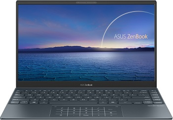 "Ноутбук Asus ZenBook UX325JA-EG109T +bag+cable 13.3"" 1920x1080 мат IPS/Core i5 1035G1 1Ghz/8Gb/256SSD/noDVD/Int:UHD Gr-cs/Cam/BT/WiFi/w1y/1.11kg/Pine Grey/W10+NumberPad (90NB0QY1-M01750)"